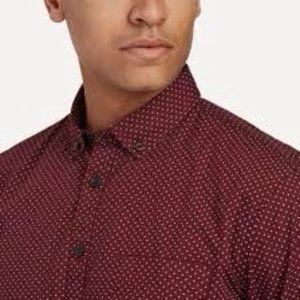 Frank & Oak Geometric Print Red Shirt M